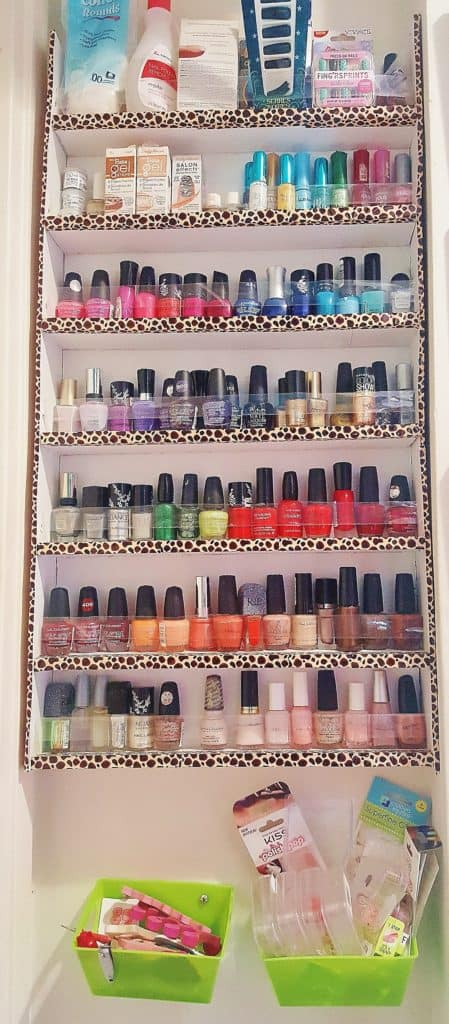 DIY Nail Polish Rack for Under $10