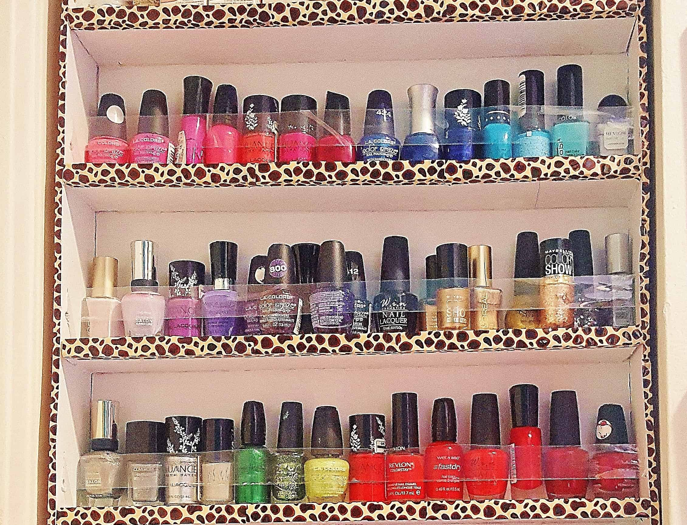 The Dollar Store Nail Polish Rack No One Will Know is DIY - Twins Dish