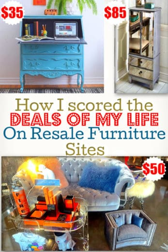 How I scored the deals of my life on furniture resale sites! Perfect for apartment, budget decor, DIY, College, Thriftstores