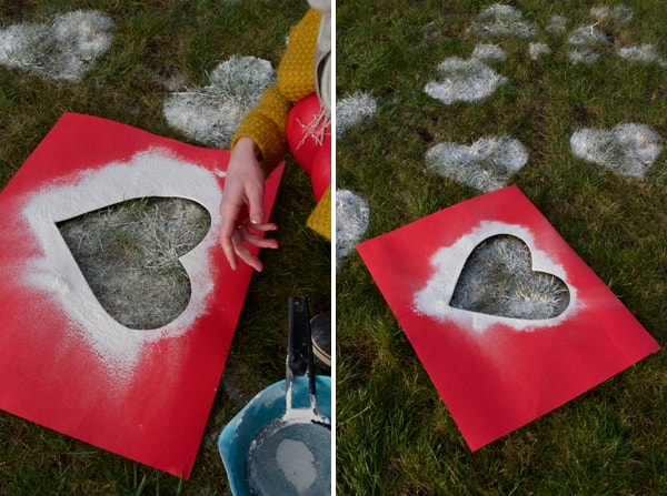 Easy Valentine's Day lawn decoration