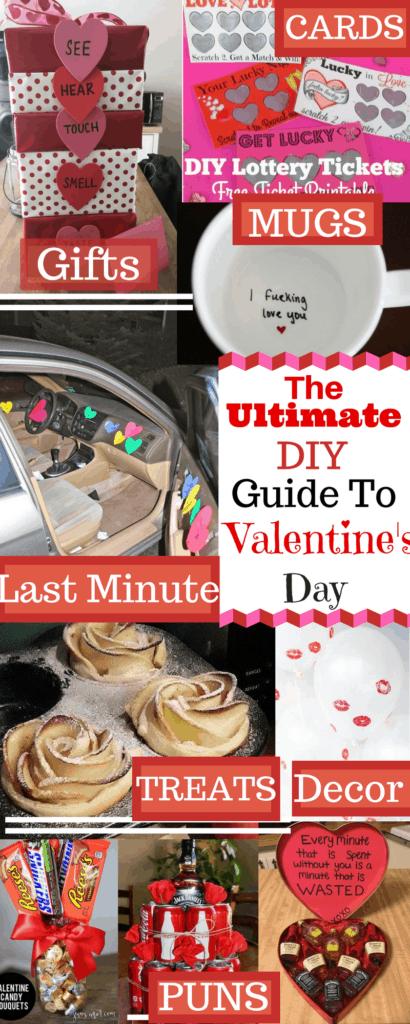 DIY Valentine's Day Ideas / Cards /Decor / Crafts / Food/ DIY Boyfriend Gifts / Romantic / Puns