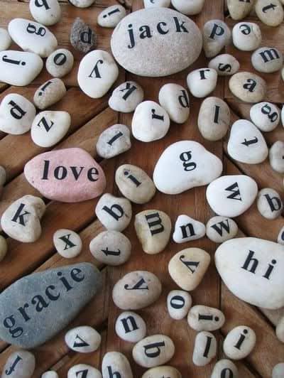 DIY Alphabet Stones/ DIY boyfriend gifts