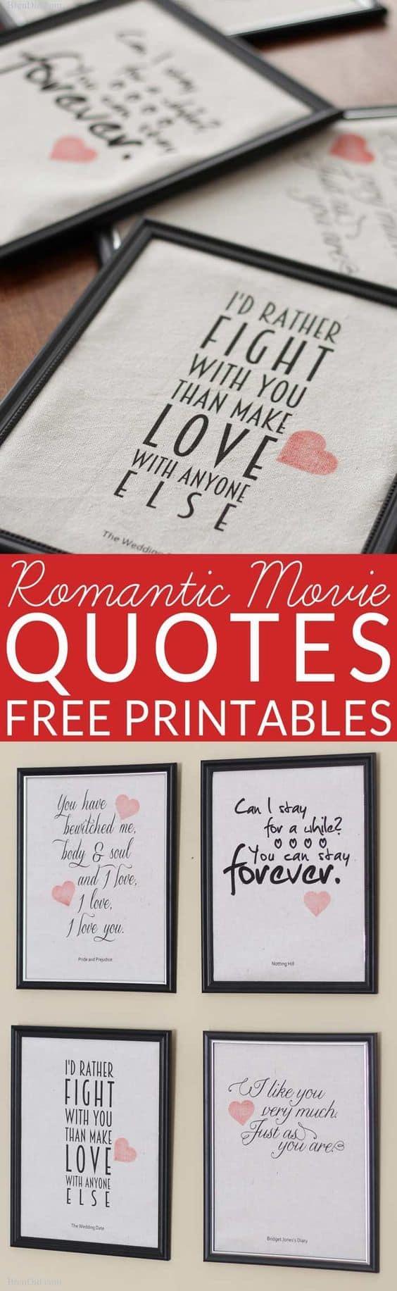 DIY Framed Movie Quote Gift/ The best Valentine's Day gift ideas/ DIY boyfriend gifts