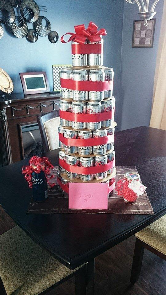 Beer cake gift idea. DIY boyfriend gifts.