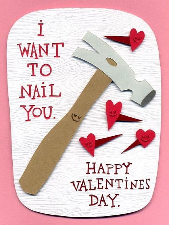 Nail you pun card. DIY boyfriend gifts