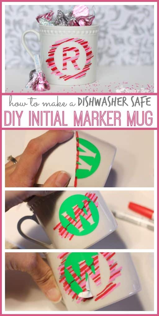 Easy DIY Initial Marker Mug/ The Ultimate DIY Guide to Gifts