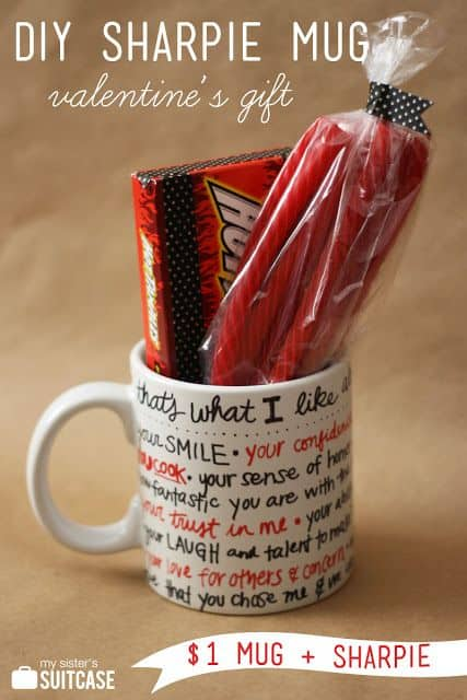 DIY What I Like About You Mug. DIY Valentine's Day Gifts/ DIY boyfriend gifts