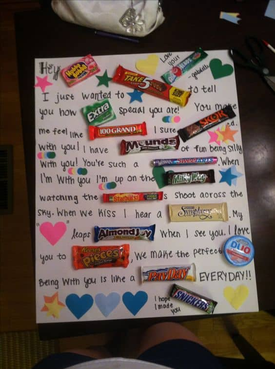 candy pun board gift/ DIY boyfriend gifts