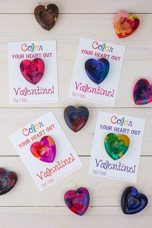 DIY crayon Valentine's Day gift