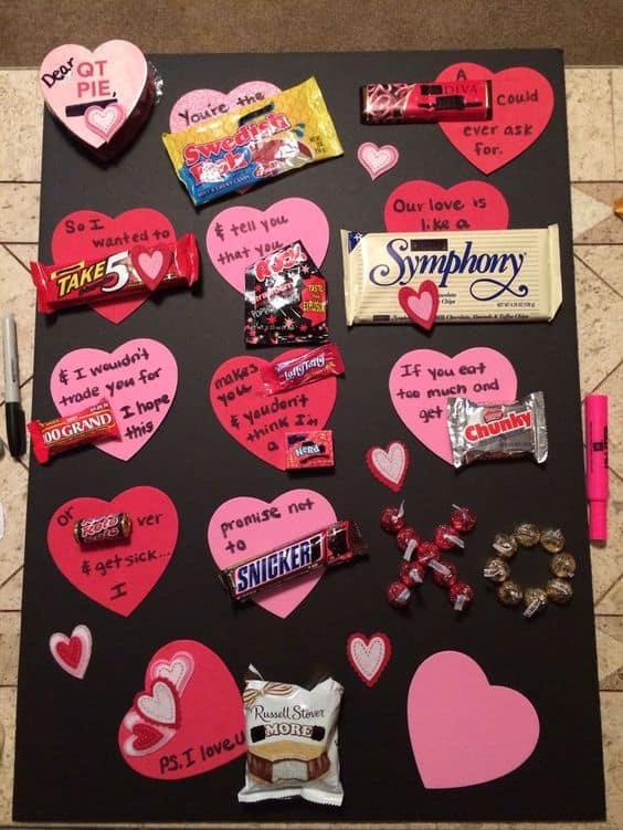 Valentine's Day candy pun gift/ DIY boyfriend gifts