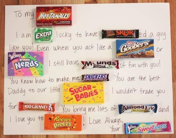 Candy pun gift/ DIY boyfriend gifts