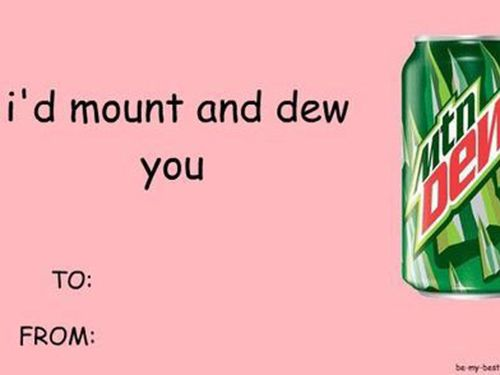 Mountain Dew Soda pun/ DIY boyfriend gifts