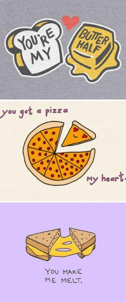 Pizza Pun from our Ultimate DIY Guide to Valentine's Day. DIY boyfriend gifts. #Boyfriendgifts #giftsforhim #valentinesday