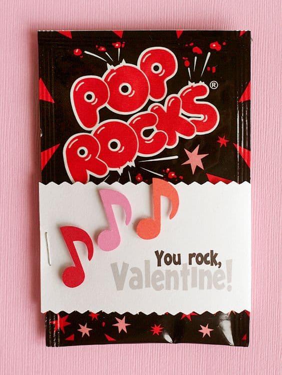 Pop Rocks Pun/ DIY boyfirend gifts/ Valentine's Day Teacher gifts