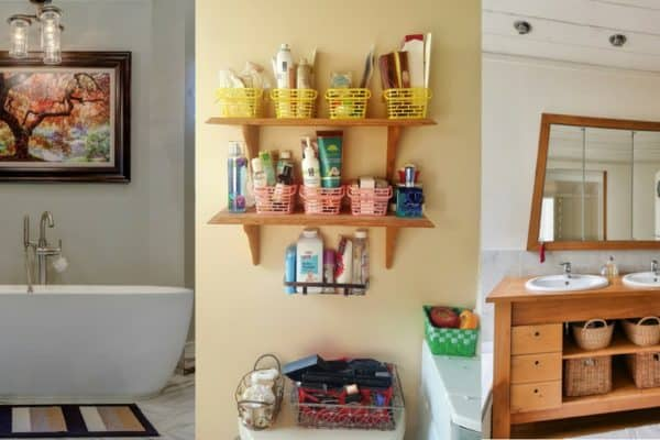 These 10 easy tips completely transformed our bathroom and made it easier to get ready on time. Bathroom Decor, DIY Bathroom Decor, Apartment Bathroom Ideas, Guest Bathroom, Bathroom Storage