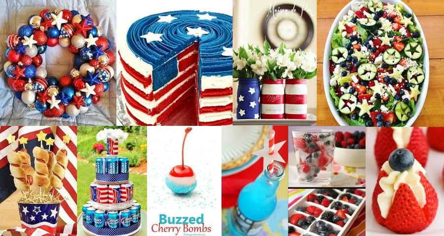Easy DIY 4th of July party decoration, food, crafts, and ideas
