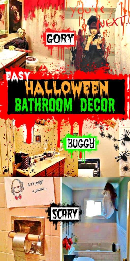 Easy Halloween Decorations for Bathroom Scary, Spooky, Creepy, Gory, Halloween Bathroom Decor