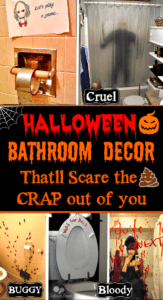 The Ultimate Guide to Halloween Bathroom Decorations that will scare the crap out of your party guests literally!