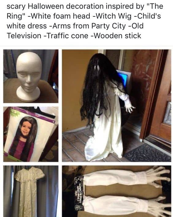How to make a little girl for easy halloween bathroom decorations that will scare the cra out of your guests
