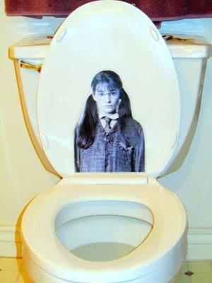 Easy Halloween Bathroom Decorations for the toilet