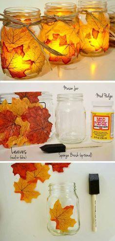 Fall Leaf Votive Craft