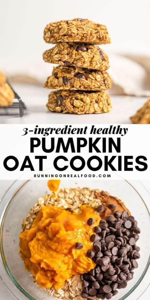 3 ingredient Pumpkin Oat Cookie Recipe
