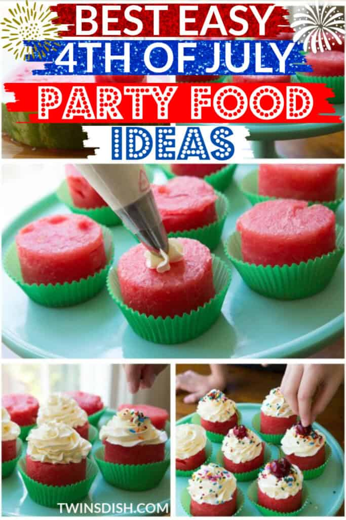 Best Easy DIY 4th of July Party Food Ideas with watermelon