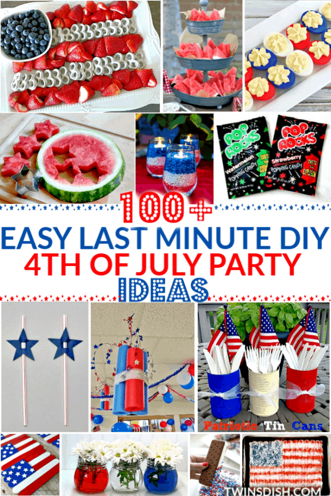 Easy DIY Fourth of July Party ideas food, crafts, and decor