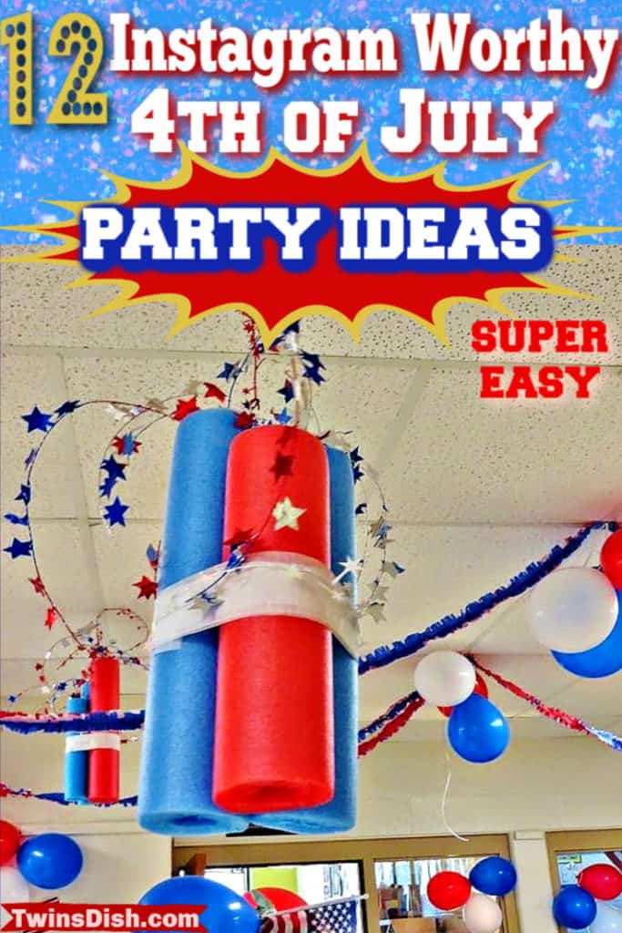 Super easy DIY 4th of July party ideas, for food and decorations. #4thofJulyParty #DIY