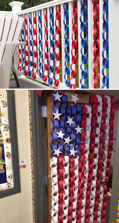 Easy DIY 4th of July decoration.