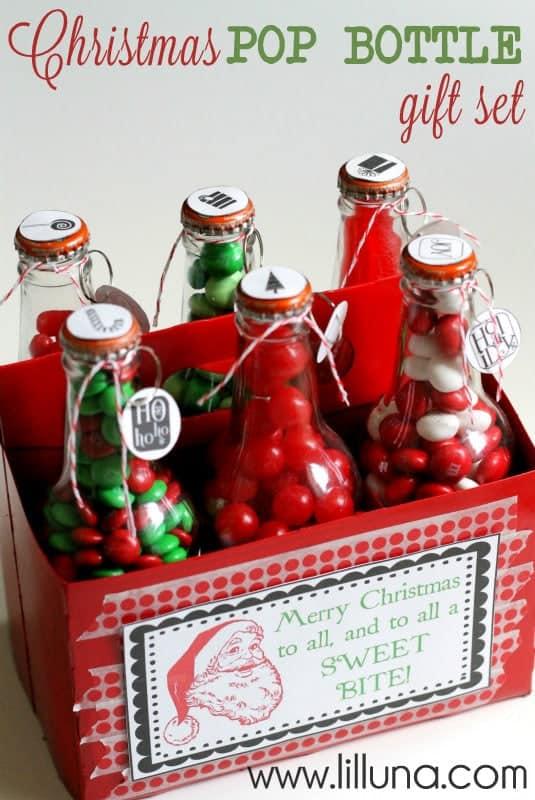 Christmas Pop Bottle Gift Basket