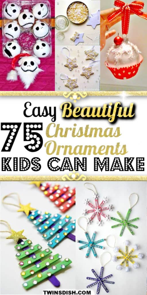 Easy DIY Christmas Ornaments. Simple yet beautiful dollar store craft ideas anyone can make even kids. #Christmas #Kidcrafts