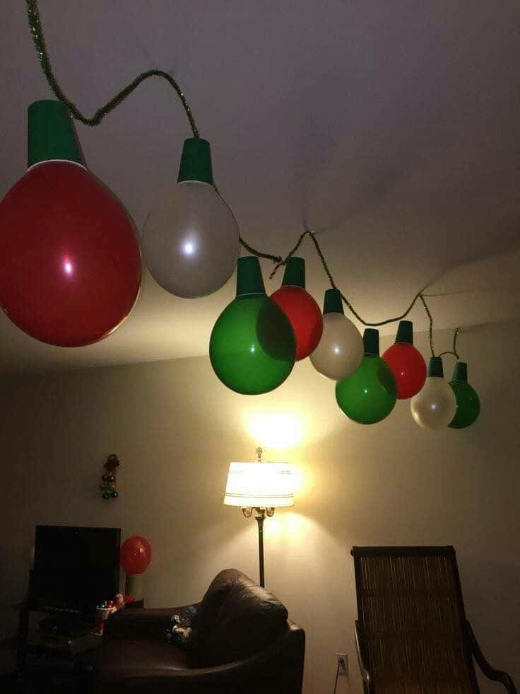 Easy DIY Balloon Christmas Garland