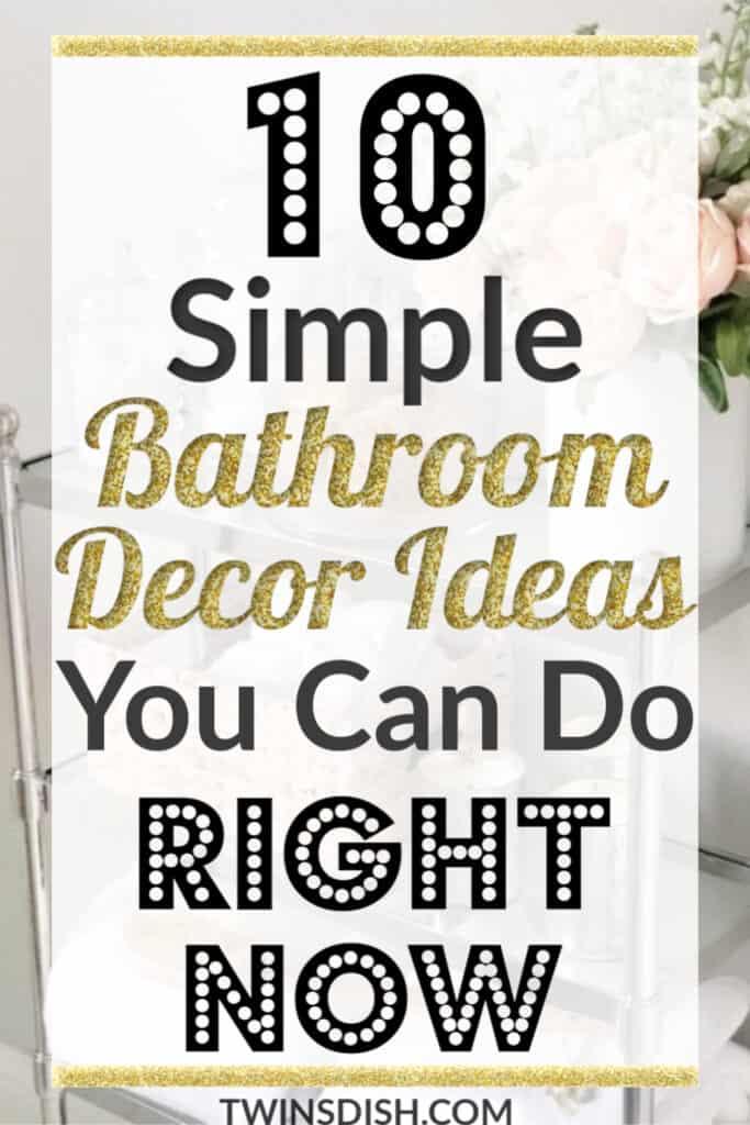 Easy Simple DIY Bathroom Decor Ideas For A Small Bathroom or apatment