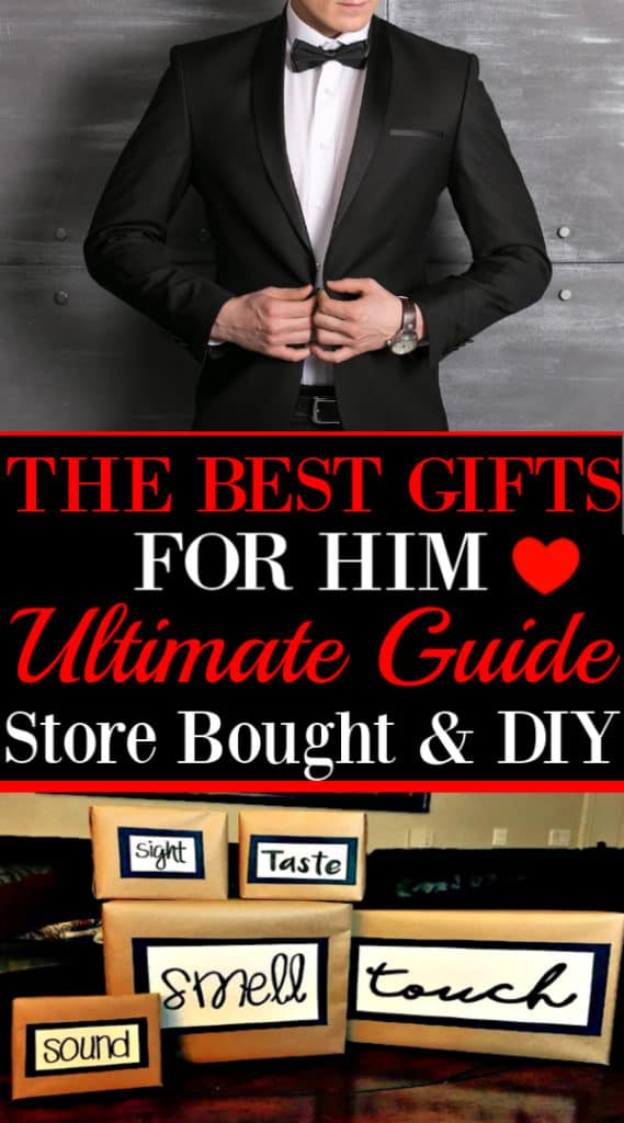 The Ultimate Guide to the best gifts for him, store bought and DIY options.