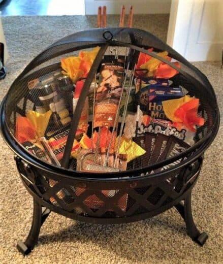 Bonfire Smores Gift Basket Idea