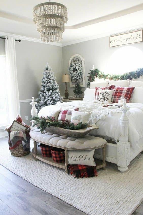 Buffalo Check Farmhouse Glam Christmas Decor