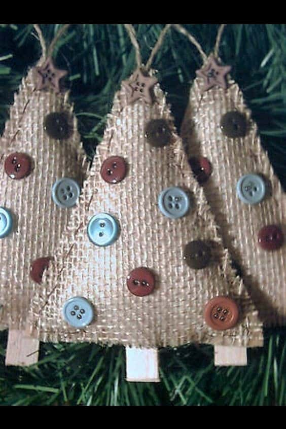 DIY Burlap Christmas Tree Ornament