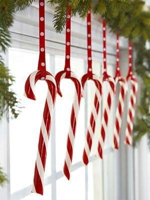 DIY Candy Cane Window Garland