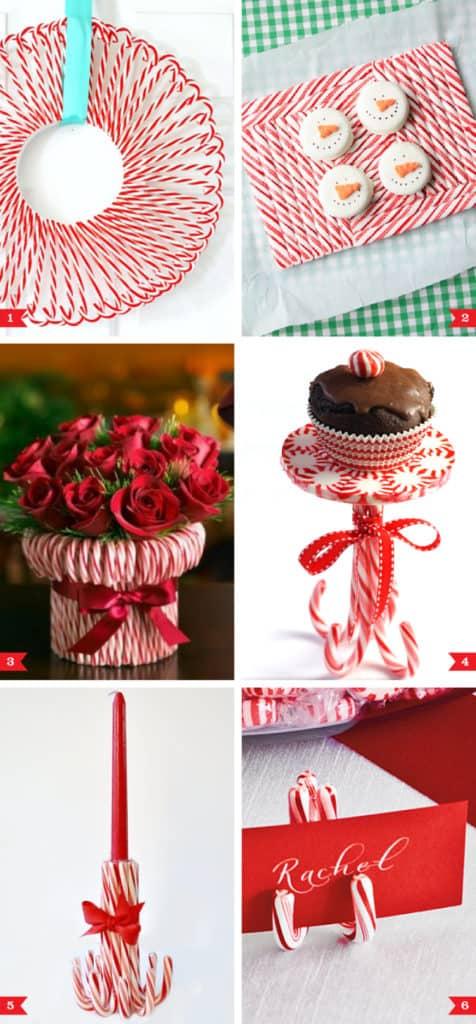Easy DIY Candy Cane Christmas Decor Craft Ideas