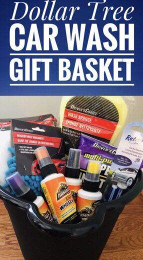 Car Wash Gift Basket Idea for Men