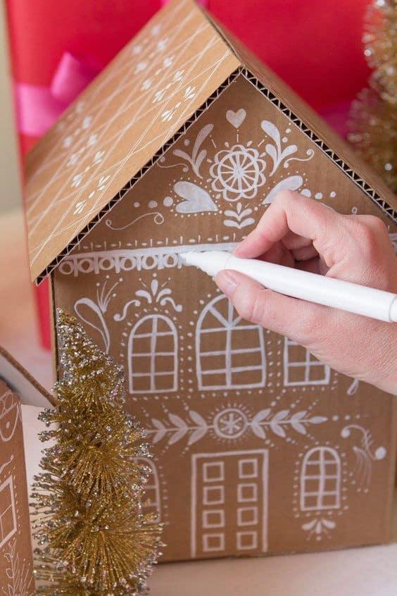 Cardboard Gingerbread Houses