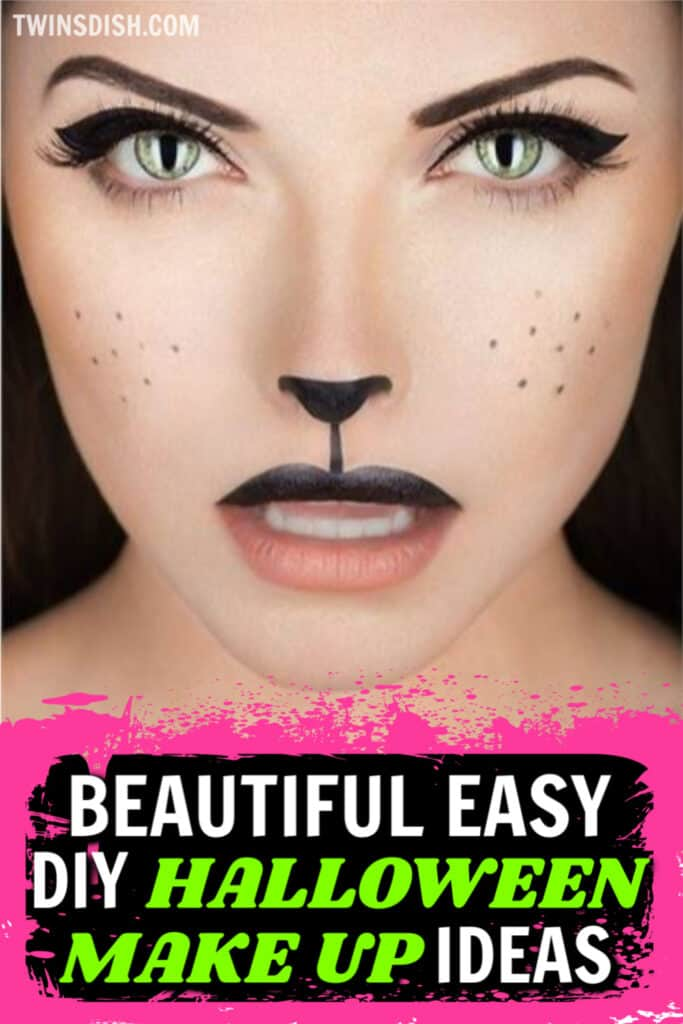 Easy DIY Halloween Make Up That Looks Professional, Vampire, Unicorn, Cat, Spider, Comic Book, and more