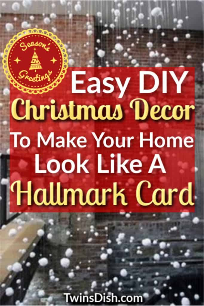 Easy DIY Christmas Decor ideas for the home and apartment. Includes elegant indoor, outdoor, mantel, livingroom, farmhouse, and kitchen ideas on a budget. Make a winter wonderland this Christmas at your home, work, classroom, office, or party with these simple decor ideas.