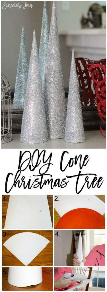 Easy DIY Christmas Cone Tree Decoration Craft Tutorial