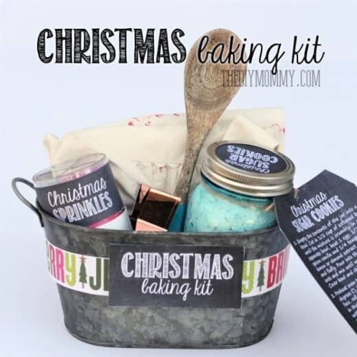 Christmas Cookies Gift Basket