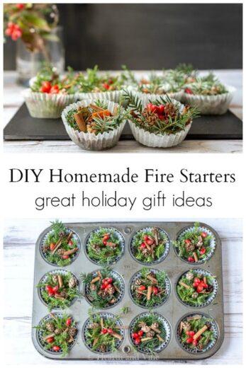 DIY Christmas Fire Starters
