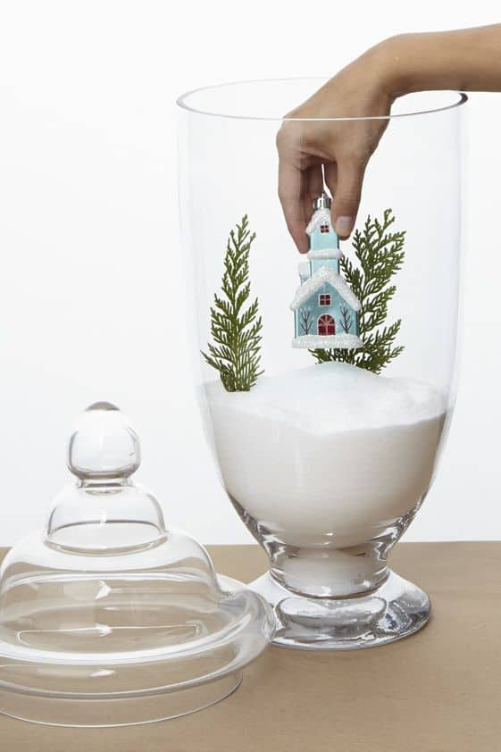 Christmas Glass Jar Scene Easy DIY Christmas Decorations