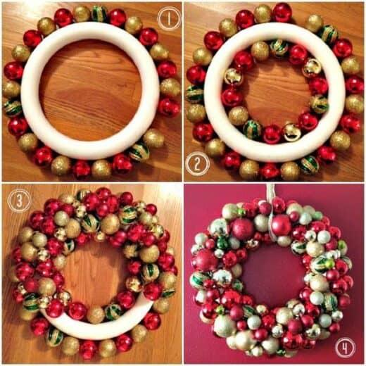 DIY Ornament Christmas wreath