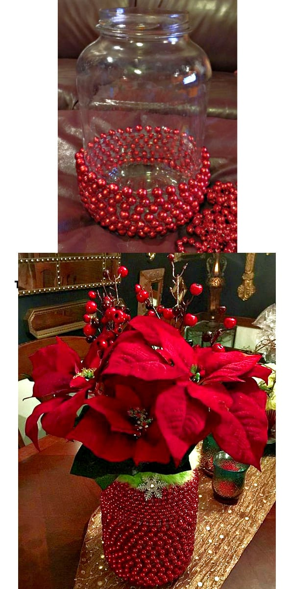 How to make: Easy DIY Christmas Decorations and gifts. Elegant Christmas or winter decoration, craft, or wedding centerpiece. Great Budget decor ideas for the home or party. #Christmas #Wedding #DIYGifts #ChristmasParty
